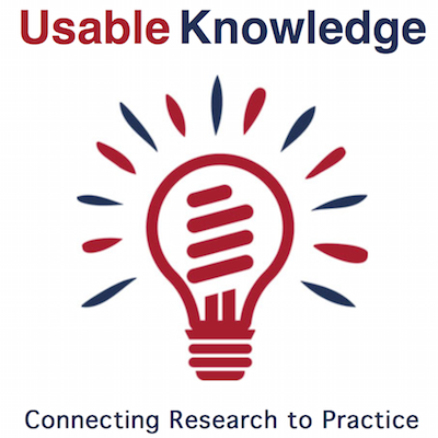 Usable Knowledge Webinar: Two Are Better than One